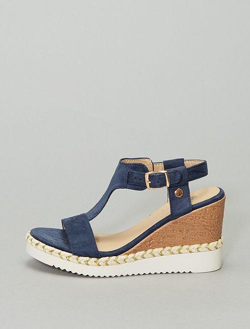 - Sandales compensées                                         bleu