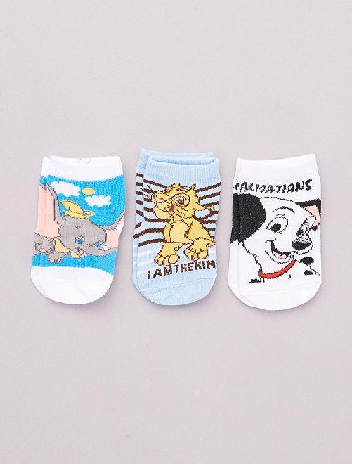3 paires de chaussettes héros 'Disney'                                         bleu