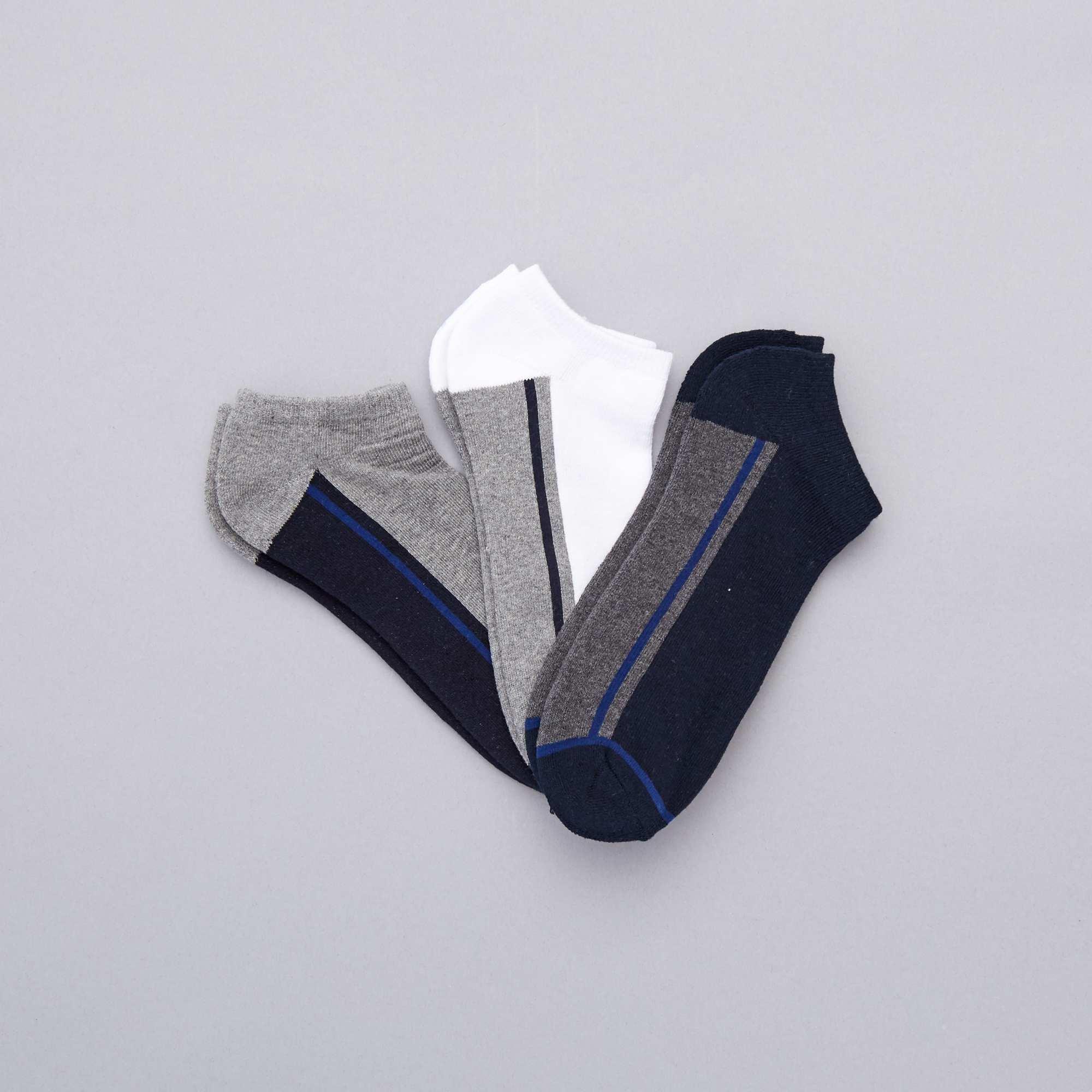 7d3917ed0bf 3 paires de chaussettes invisibles sport Grande taille homme - bleu ...