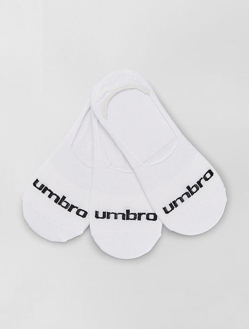 3 paires de chaussettes invisibles 'Umbro'                                         blanc