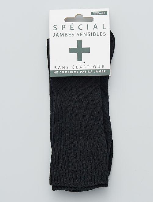 3 paires de chaussettes 'jambes sensibles'                             noir