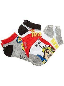 Chaussettes - 3 paires de chaussettes 'Sam le pompier' - Kiabi