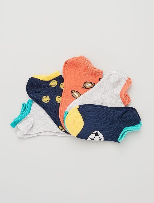 5 paires de chaussettes invisibles éco-conçues                                                                                                                             foot
