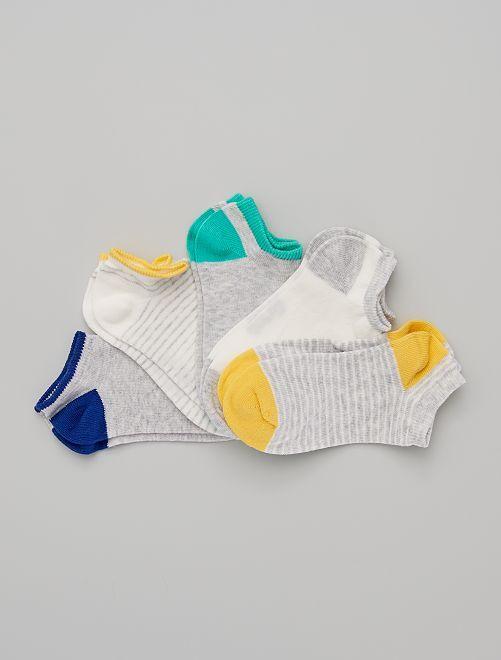 5 paires de chaussettes invisibles éco-conçues                                                                                                                             gris