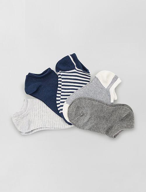 5 paires de chaussettes invisibles éco-conçues                                                                                                                             noir