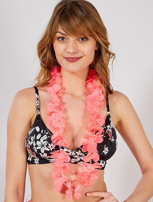 Accessoire collier hawaïen                                                                                         rose