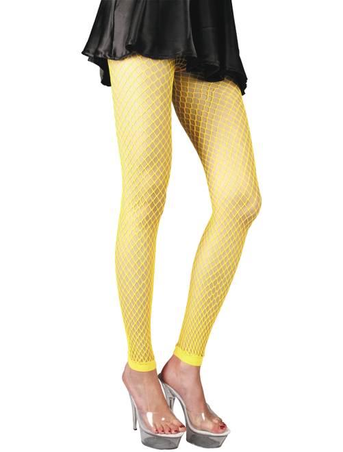 Accessoire paire de legging résille fluo                                         jaune fluo