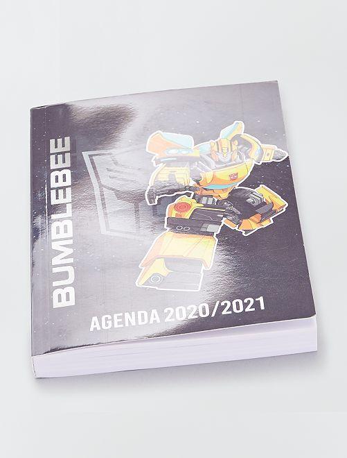 Agenda scolaire 'Transformer' 2020-2021                             noir/jaune