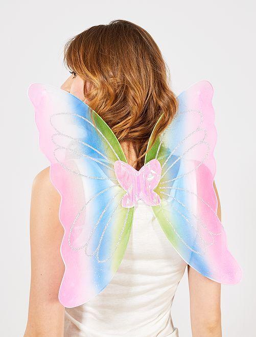 Ailes de papillons adulte                             multicolore