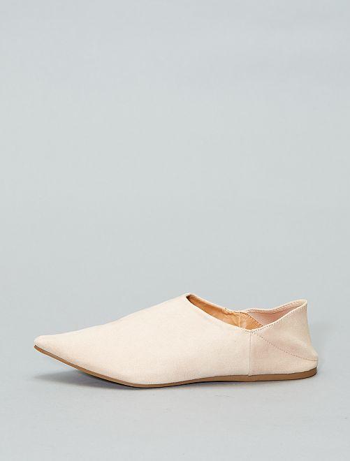 Babouche en suédine                                         beige rosé Chaussures