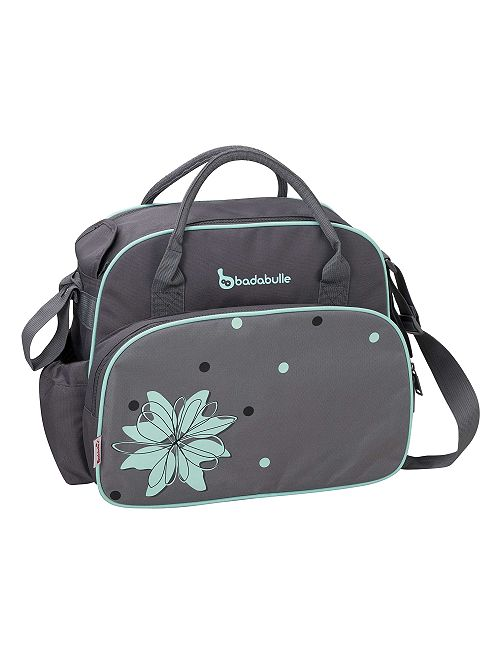 'Badabulle' sac à langer grande capacité                             gris/turquoise