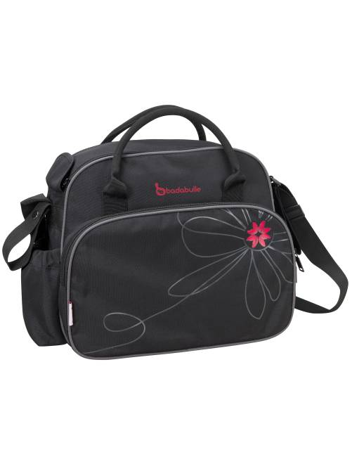 'Badabulle' sac à langer grande capacité                                         noir/fuchsia