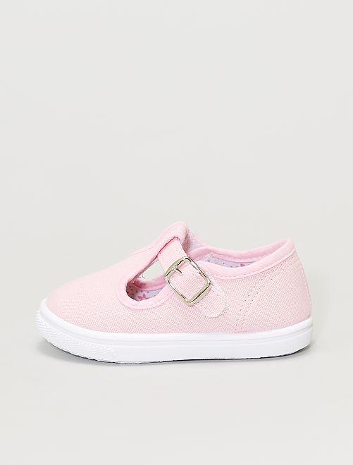 Ballerine en toile                                         rose