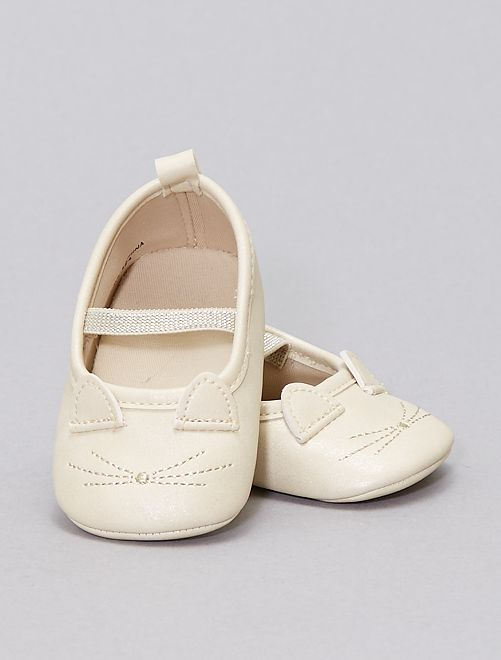 Ballerines chat                             beige