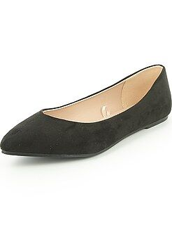Chaussures - Ballerines en suédine - Kiabi