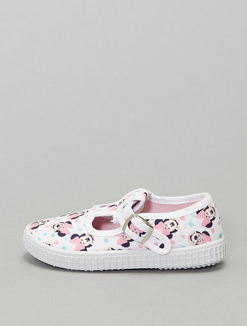 Ballerines en toile 'Minnie Mouse' de 'Disney'                             blanc