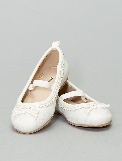 Ballerines irisées                             blanc