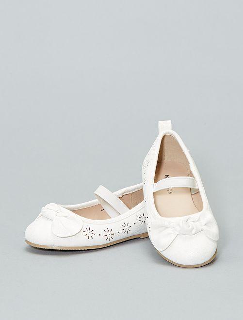 Ballerines irisées                                         blanc Fille