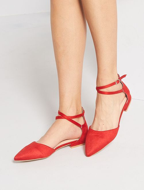 Ballerines ouvertes                                                     rouge