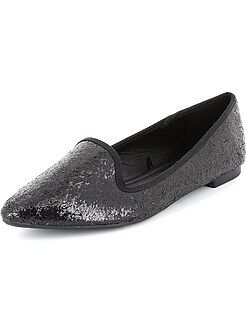Ballerines pailletées style slippers
