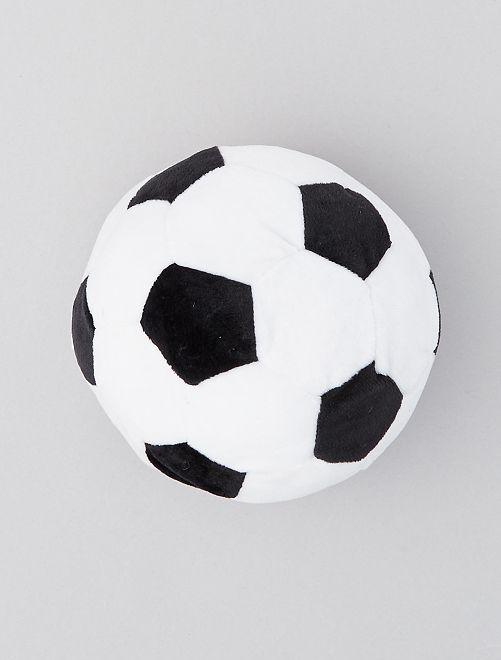 Ballon de foot en peluche 'Squeek'                             blanc