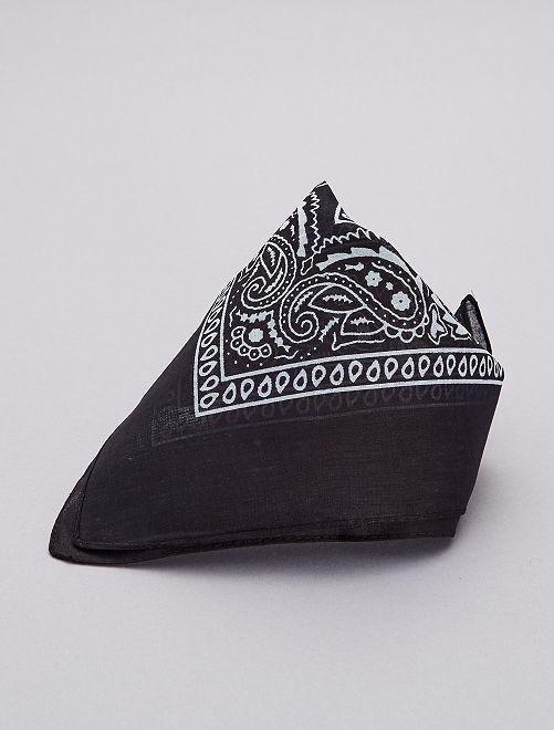 Bandana en coton imprimé                             noir