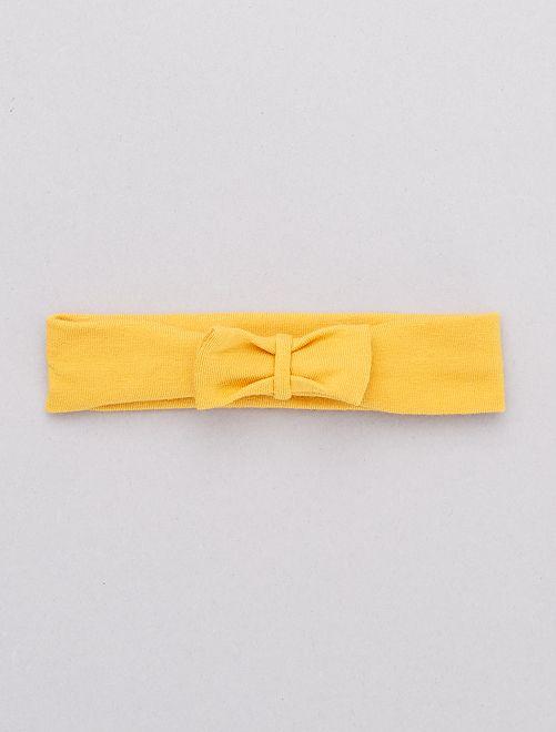 Bandeau avec nœud fantaisie                                                                                                                                                                                                                                                                                                                 jaune moutarde
