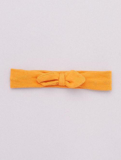 Bandeau avec nœud fantaisie                                                                                         moutarde