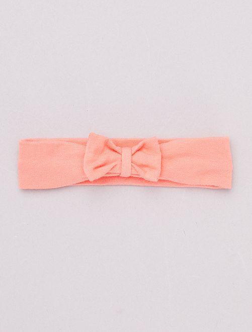 Bandeau avec nœud fantaisie                                                                                                                                                                                                                                                                                                                                                                                         rose