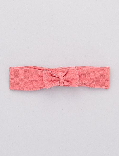 Bandeau avec nœud fantaisie                                                                                                                                                                                                                                                                                                                 rose foncé