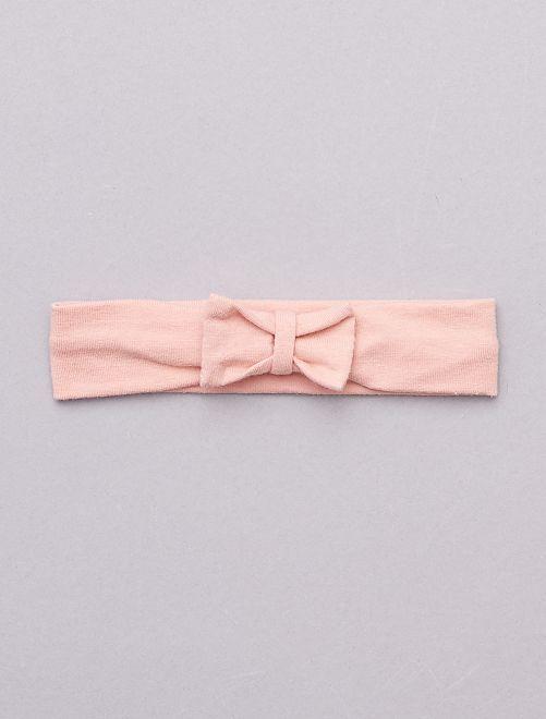 Bandeau avec nœud fantaisie                                                                                                                                                                                                                                                                                                                                                                                         vieux rose