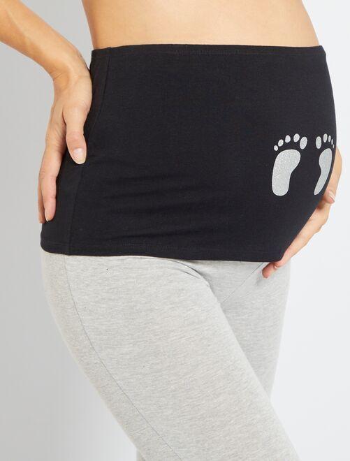 Bandeau de grossesse                                                                 noir imprimé