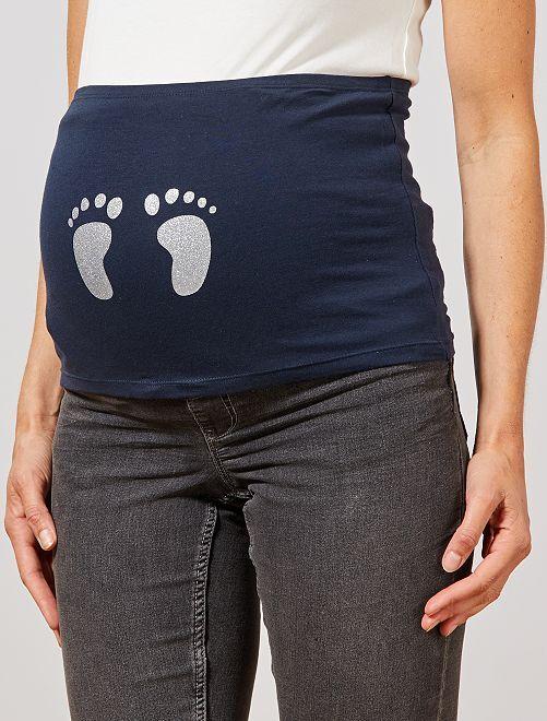 Bandeau de maternité éco-conçu                                                                             bleu marine