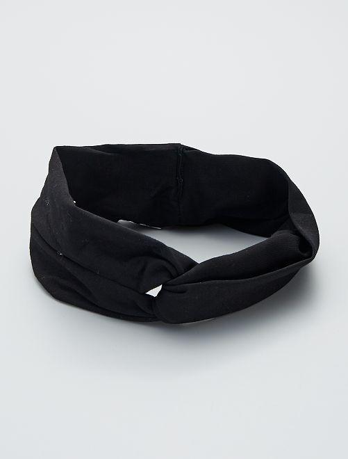 Bandeau en coton                                         noir