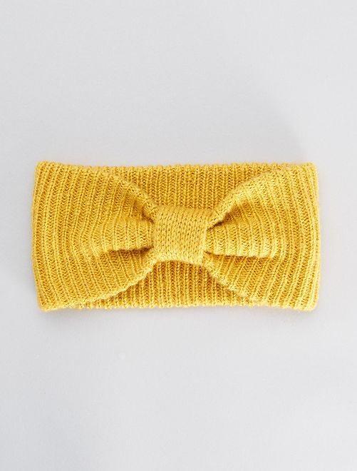 Bandeau en grosse maille                                         jaune