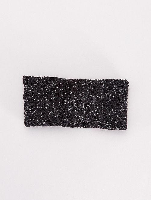 Bandeau en maille pailletée                                         noir
