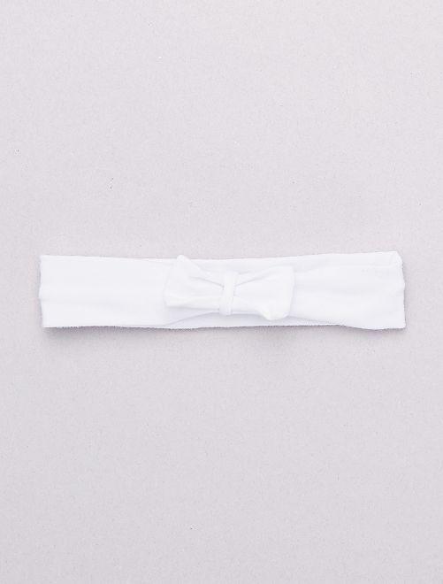 Bandeau noeud fantaisie                                                                                                                                                                                                                                                                                                                                                                 blanc