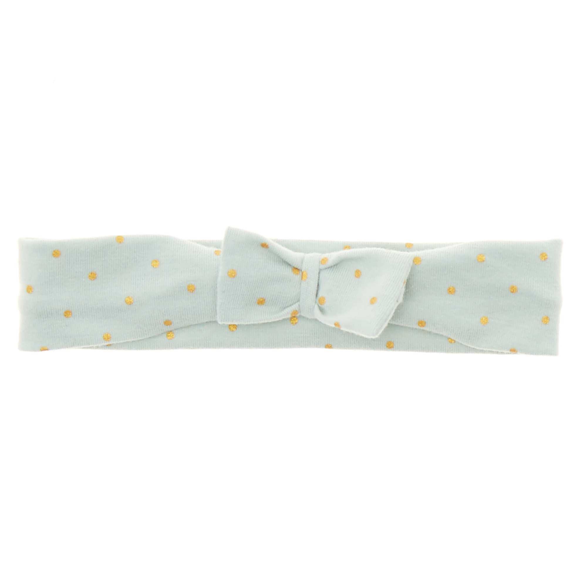 Bandeau noeud fantaisie Bébé fille - vert d eau pois - Kiabi - 2,00€ 3a60a61e7e3