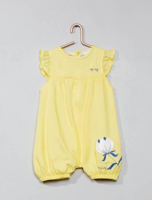 Barboteuse en viscose 39 naf naf 39 b b fille jaune kiabi for Naf naf chambre bebe
