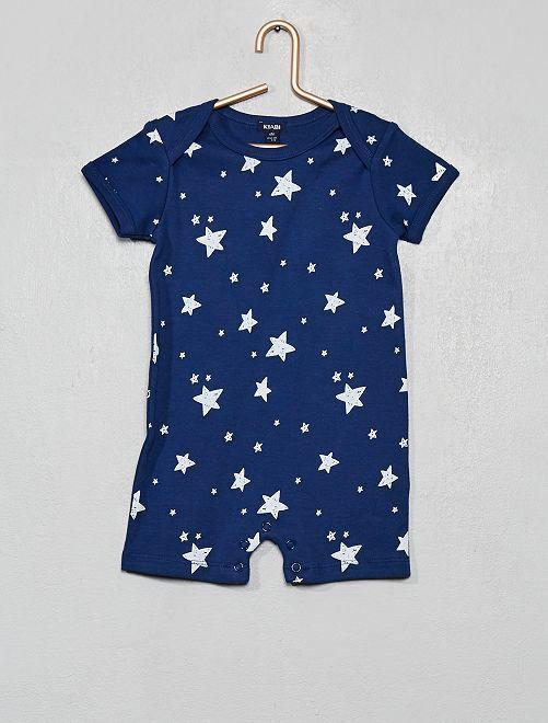 Barboteuse imprimée 'étoile'                                         bleu