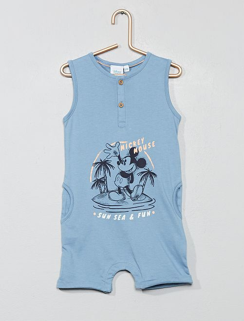 Barboteuse 'Mickey'                             bleu Bébé garçon