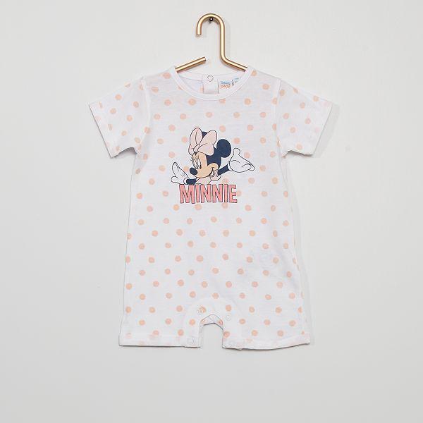 B/éb/é Fille Barboteuse Minnie Mouse