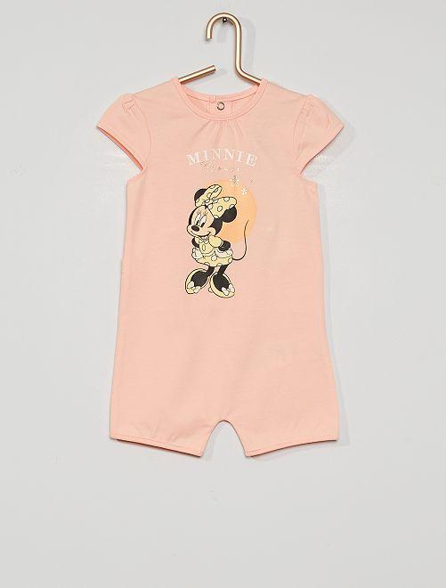 Barboteuse 'Minnie' éco-conçu                             rose