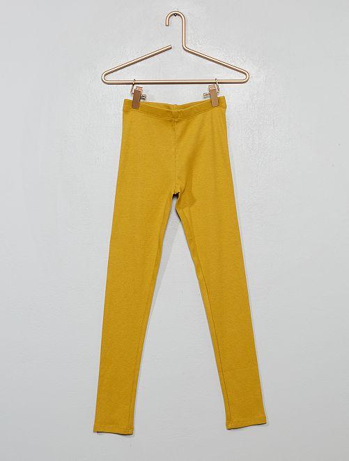 Bas de pyjama côtelé                                         jaune