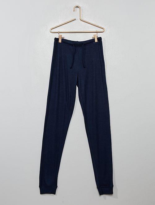 Bas de pyjama fluide                             bleu marine