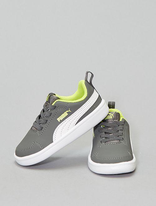 Basket 'Puma' 'Courtflex'                                         gris/jaune