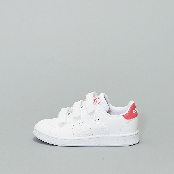 Baskets à scratch 'adidas Advantage C' Fille rose Kiabi