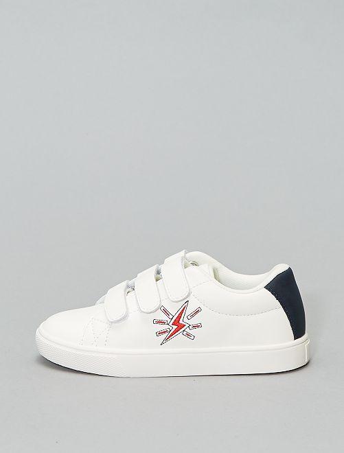 Baskets à scratchs                                         blanc Chaussures