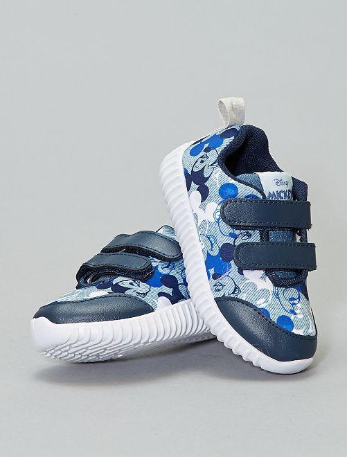 Baskets à scratchs 'Mickey'                             bleu Chaussures