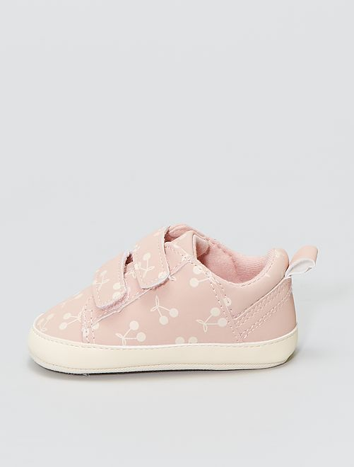 Baskets à scratchs                             rose